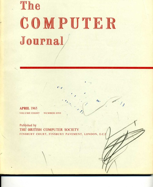 Scan of Document: The Computer Journal April 1965