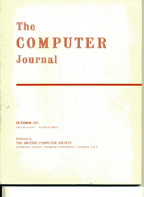 Scan of Document: The Computer Journal October 1965