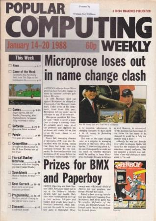 Scan of Document: Popular Computing Weekly - 14-20 January 1988