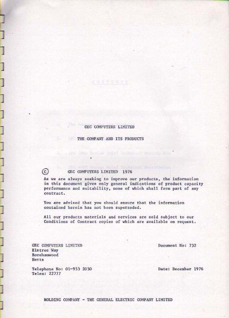 Scan of Document: GEC - The Company & Its Products 1976