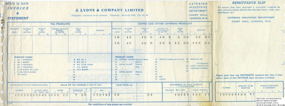 Scan of Document: 60890  Lyons Catering Invoice