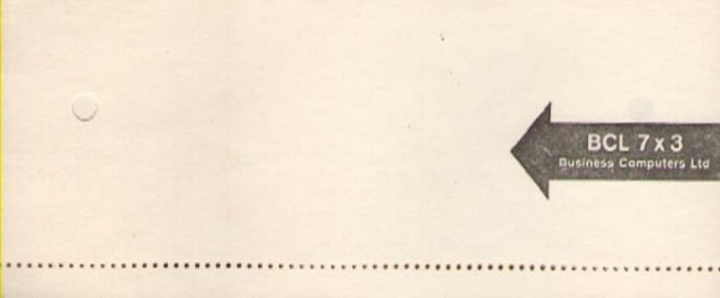 Scan of Document: 80 Column Blank BCL Punch Cards