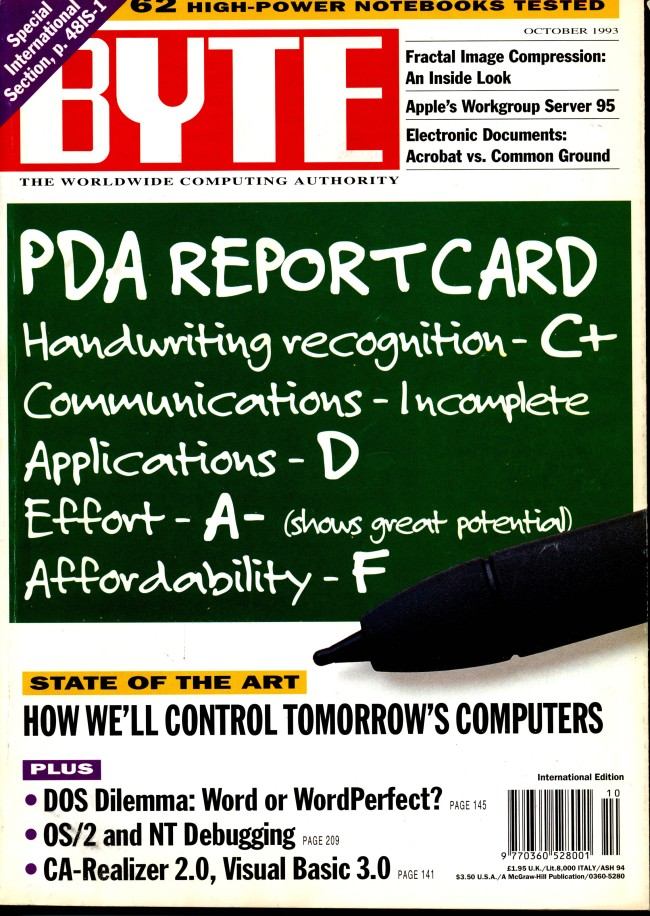 Scan of Document: Byte October 1993