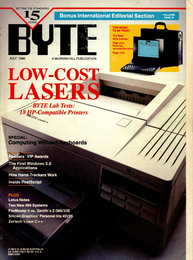 Scan of Document: Byte July 1990