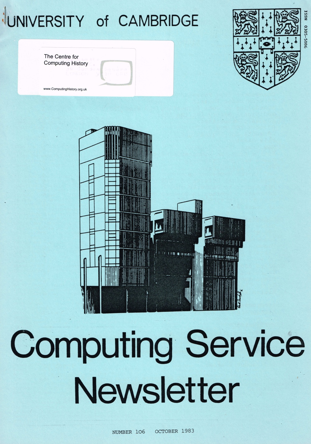 Article: University of Cambridge Computing Service October 1983 Newsletter 106