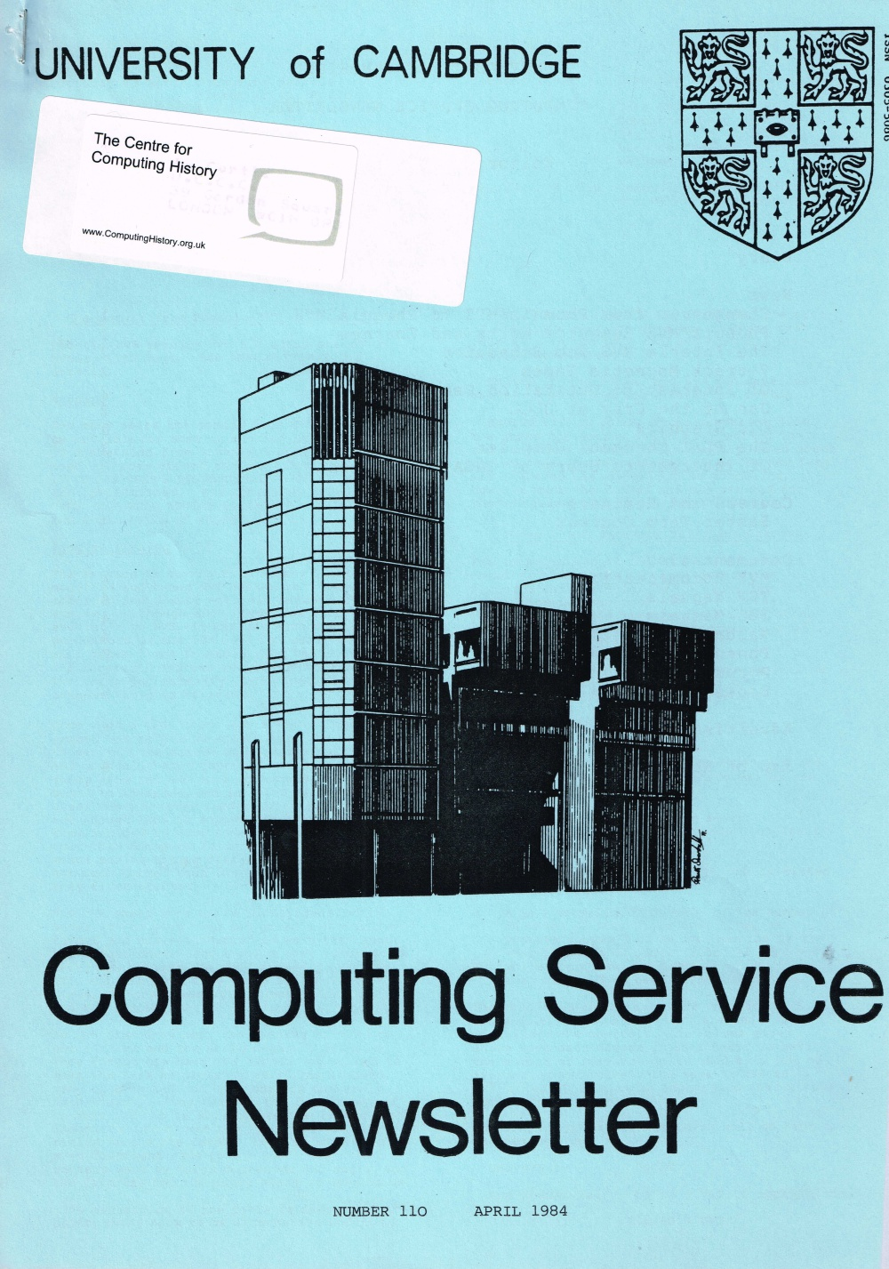 Article: University of Cambridge Computing Service April 1984 Newsletter 110