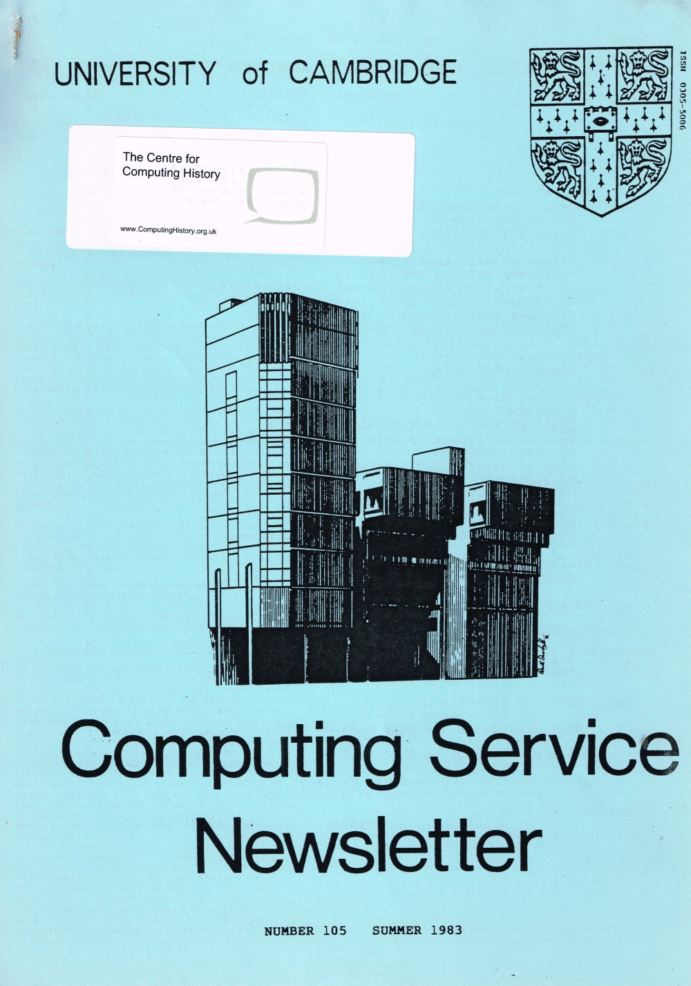 Article: University of Cambridge Computing Service Summer 1983 Newsletter 105