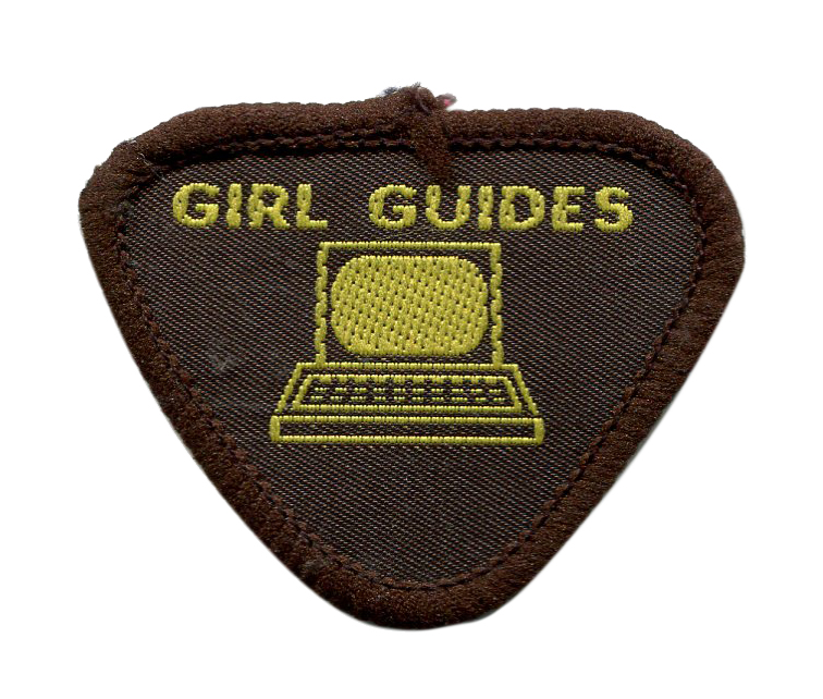 Scan of Document: Brownie Guide Computer Badge 1987-1992