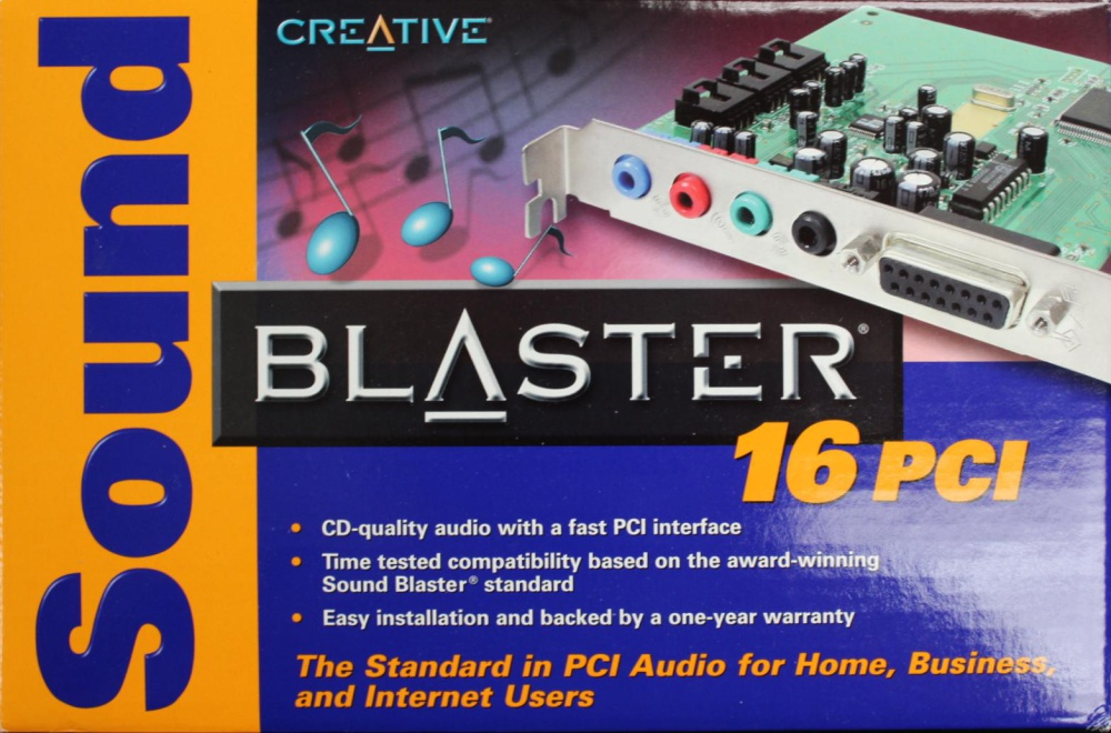 Scan of Document: Sound Blaster 16 PCI