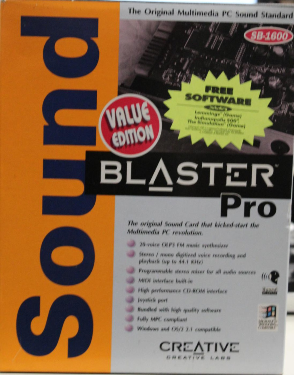 Scan of Document: Sound Blaster Pro Value Edition