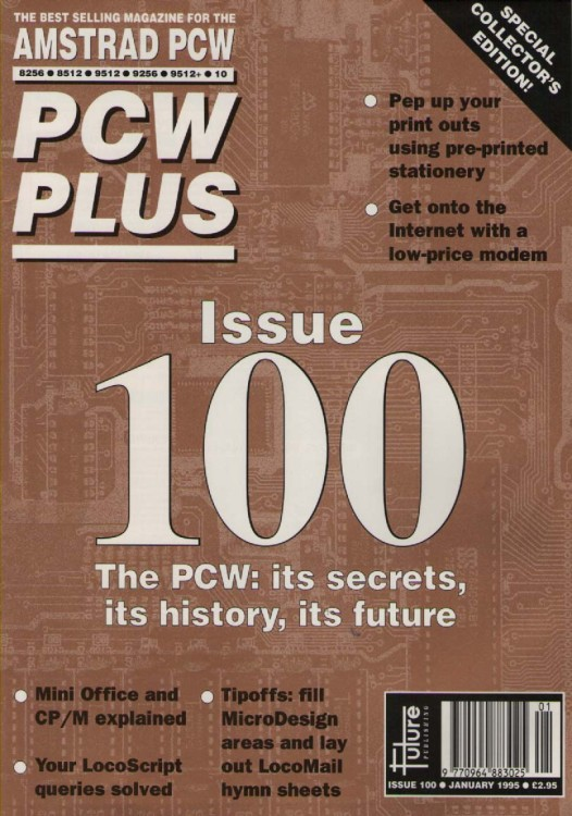 Scan of Document: Amstrad PCW Plus Issue 100 January 1995