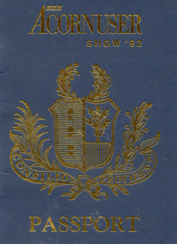 Scan of Document: Acorn User Show 92 - Passport