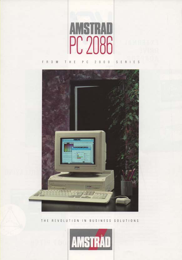 Scan of Document: Amstrad PC 2086 Brochure
