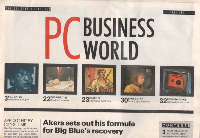 Scan of Document: PC Business World 24 January 1989
