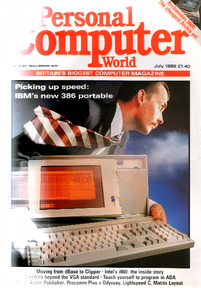Scan of Document: Personal Computer World - July 1989