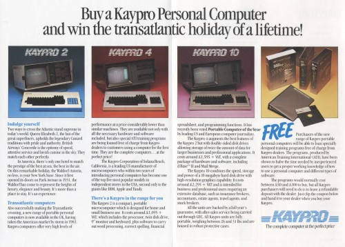 Scan of Document: Win A Kaypro 'Blue Chip' Holiday Package