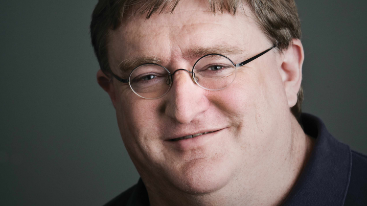 Photograph of Gabe Newell