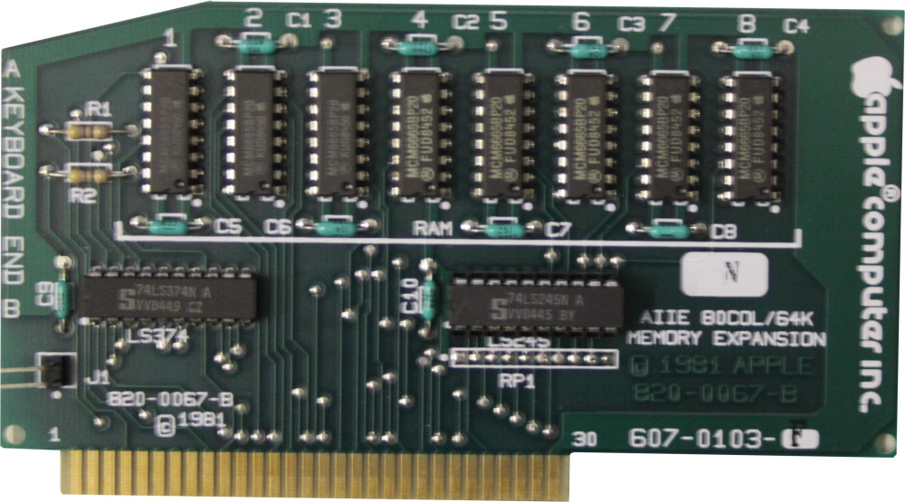 Scan of Document: Apple IIe Extended 80-Column Text Card