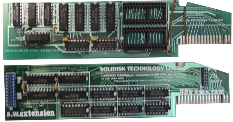Scan of Document: Solidisk Sideways RAM SWR64 Board