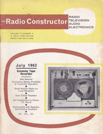 Scan of Document: The Radio Constructor - July 1963