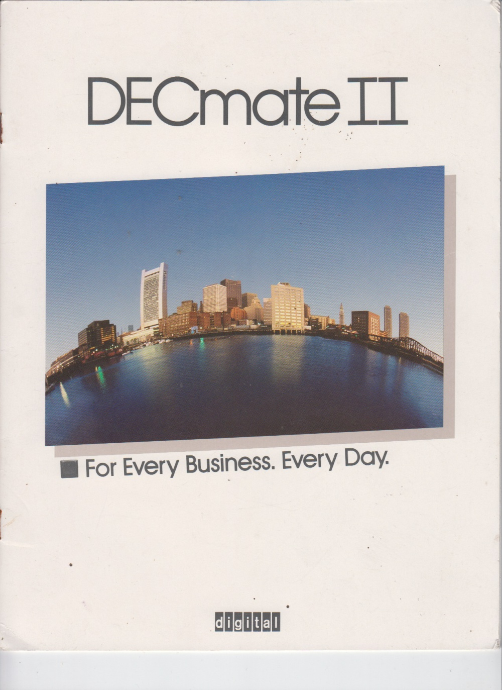 Scan of Document: DECmate II - For Every Business. Every Day.