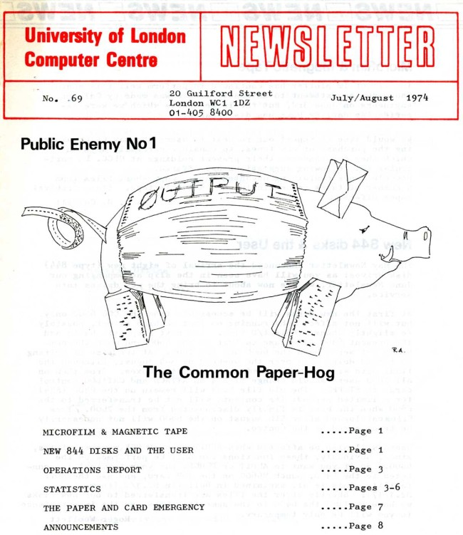Scan of Document: ULCC News July/August 1974  Newsletter 69
