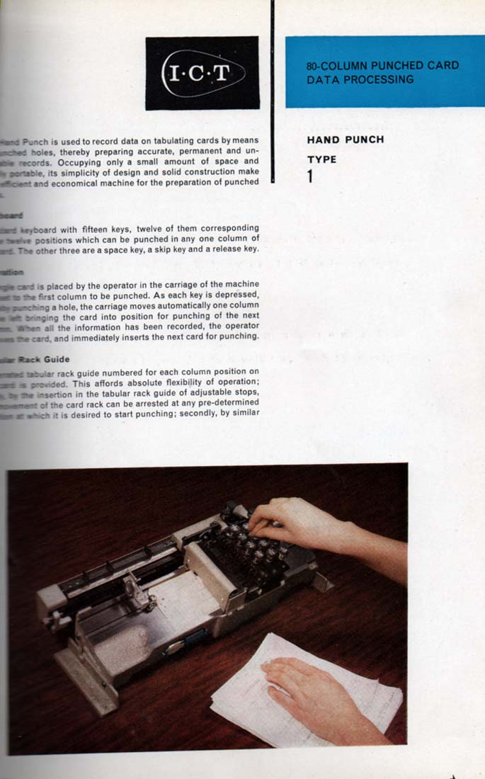 Scan of Document: 80 Column PunchedCard Data Processing - Hand Punch Type 1