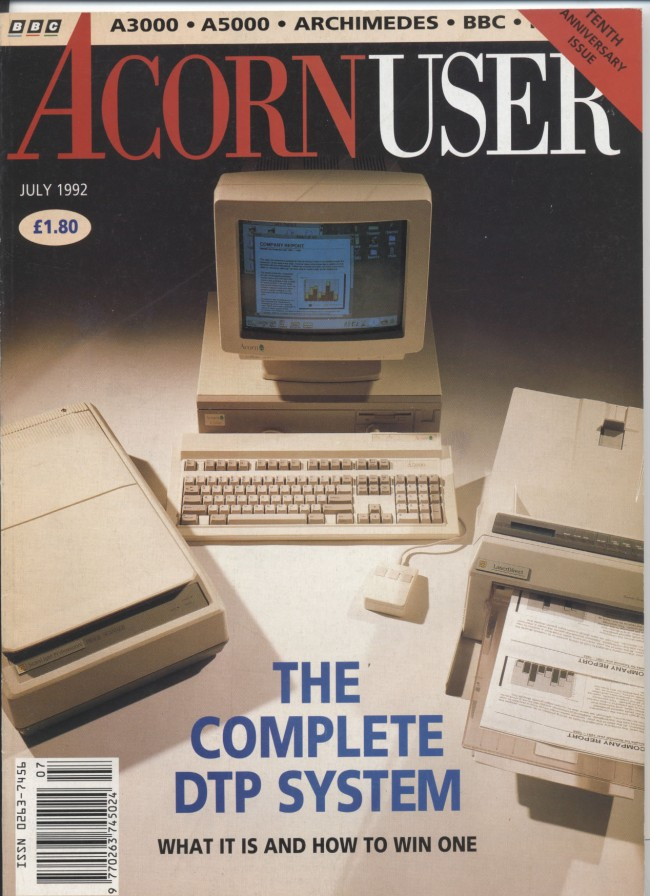 Scan of Document: Acorn User - July 1992