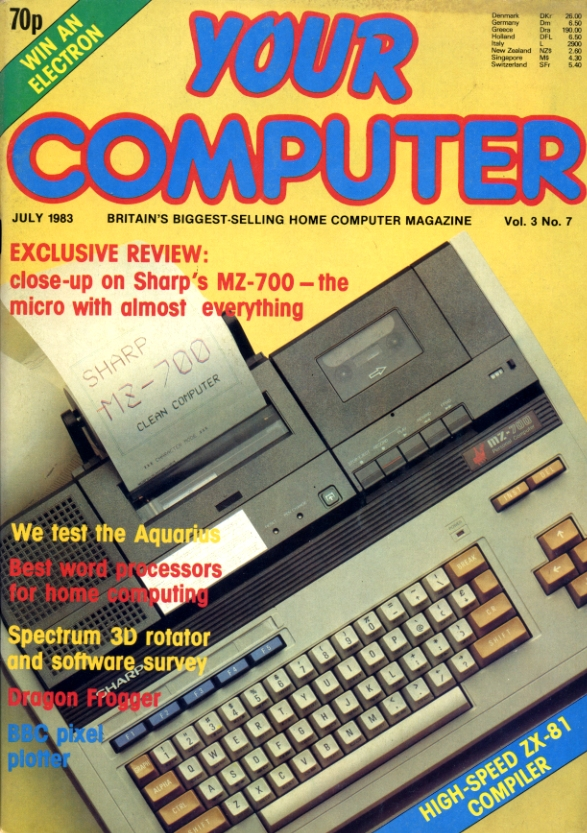 Scan of Document: Your Computer - July 1983