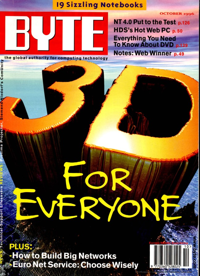 Scan of Document: Byte October 1996