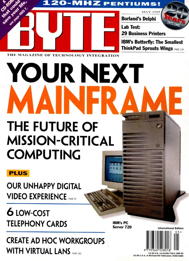 Scan of Document: Byte May 1995