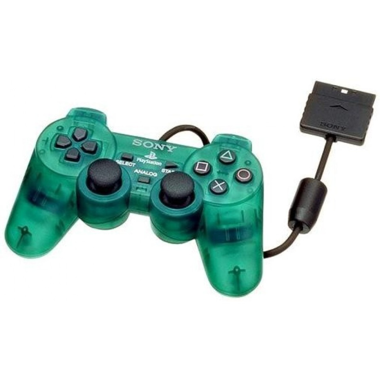 Scan of Document: Green Translucent Playstation 2 Dual Shock Controller