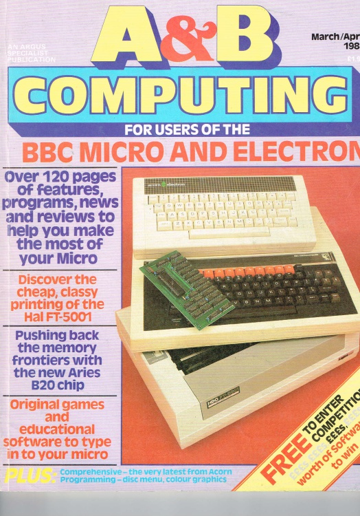 Scan of Document: A& B Computing - March/April 1984