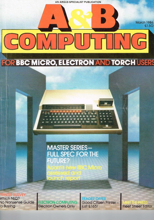 Scan of Document: A & B Computing - March 1986