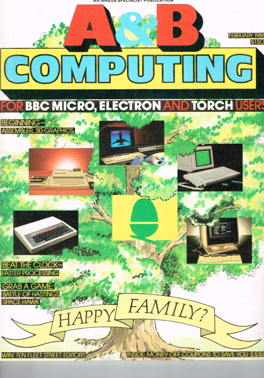 Scan of Document: A & B Computing - February 1986