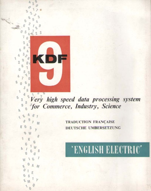 Scan of Document: KDF9 Data Processing System