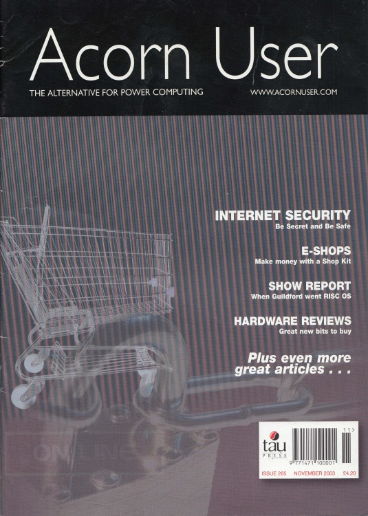 Scan of Document: Acorn User - November 2003
