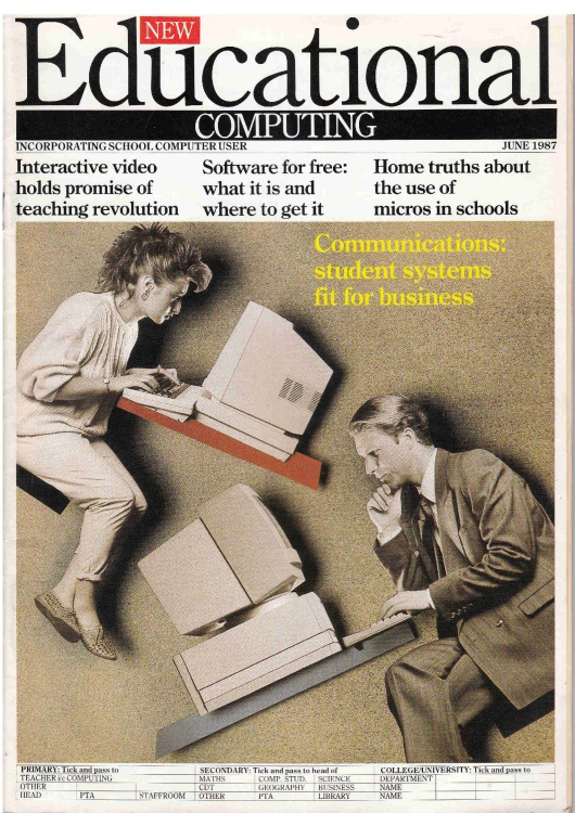 Scan of Document: Educational Computing - June 1987