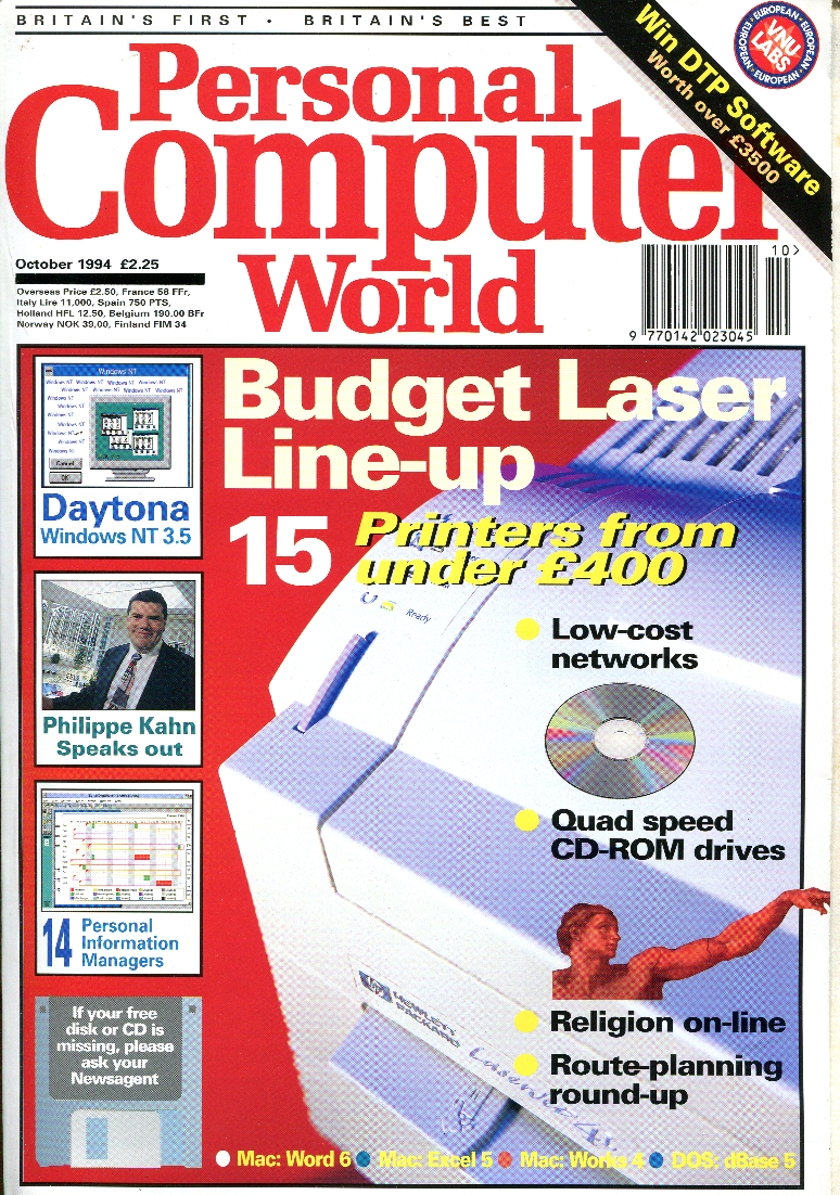 Scan of Document: Personal Computer World - October 1994