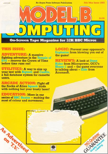 Scan of Document: Model B Computing - No. 9, February/March 1985