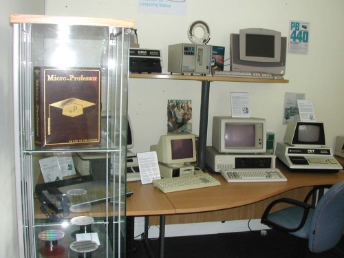 Photograph of Commodore Pet, IBM & CBM computers
