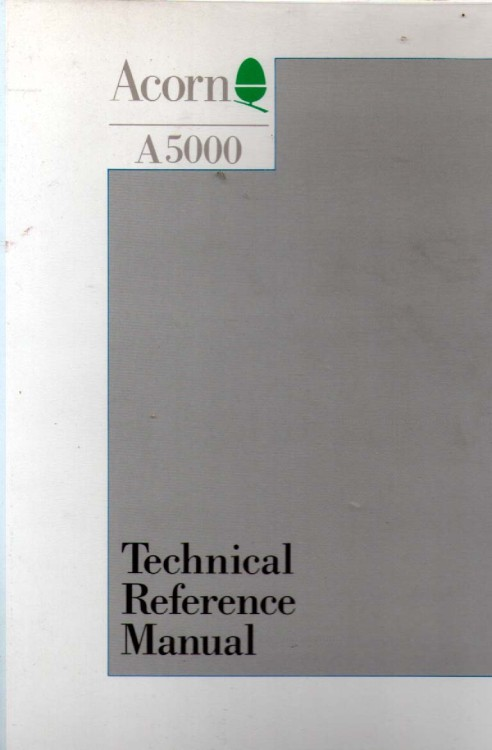 Acorn A5000 Technical Reference Manual