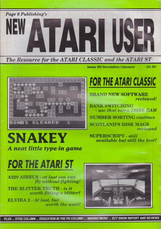 Scan of Document: New Atari User - Issue 59 - December 1992/January 1993