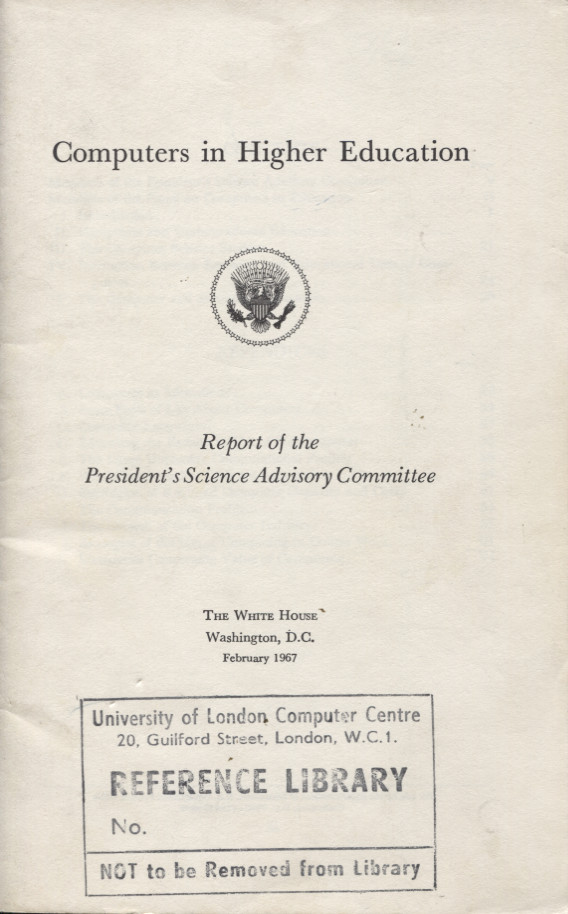 Scan of Document: Computers in Higher Education