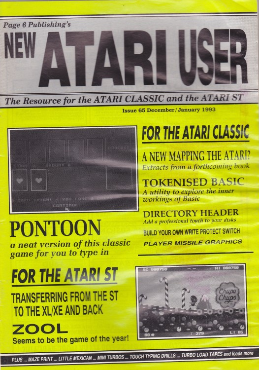 Scan of Document: New Atari User - Issue 65 -