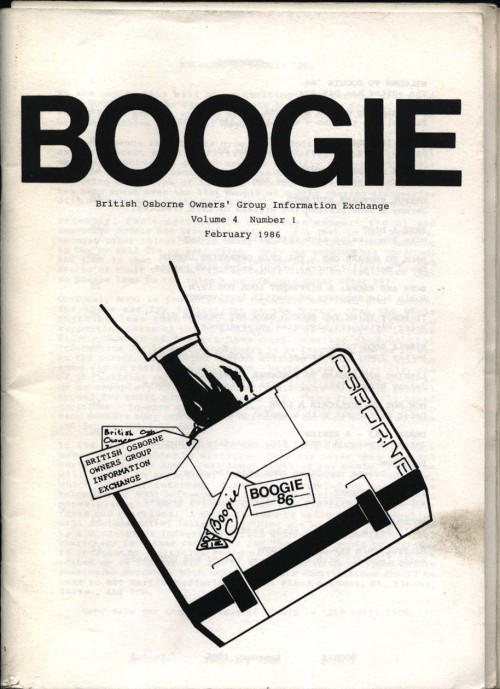 Scan of Document: Osborne Boogie February 1986