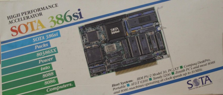 Scan of Document: SOTA 386si High Performance Accelerator