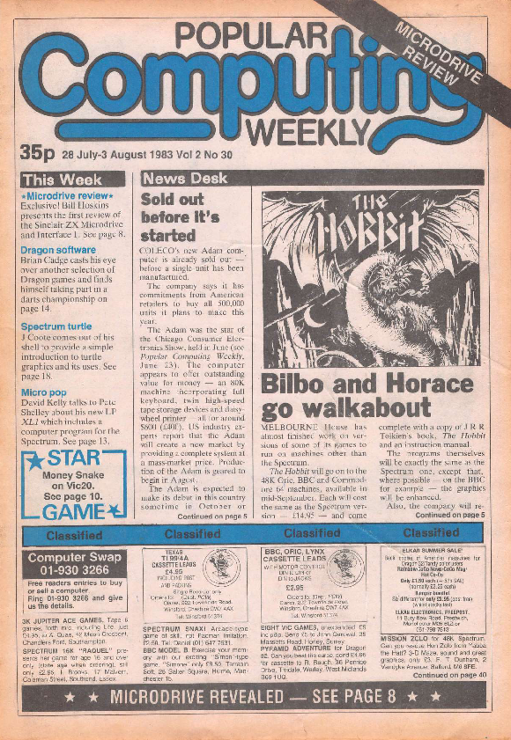 Article: Popular Computing Weekly Vol 2 No 30 - 28 July - 3 August 1983