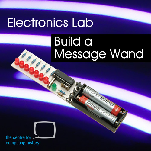 fully booked electronics lab build a message wand. Black Bedroom Furniture Sets. Home Design Ideas