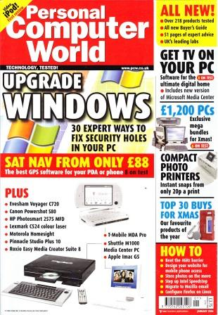 Scan of Document: Personal Computer World - January 2006